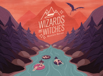 Wizards and Witches Mtn Retreat Final Frame motiongraphic motion graphics illustration art schoolofmotion design motion motiongraphics mograph illustrationformotion illustration