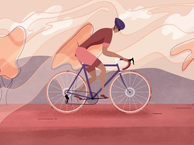 Cyclist cycle illustration art animation aftereffects motiongraphic motion illustration illustrationformotion motion graphics motiongraphics mograph