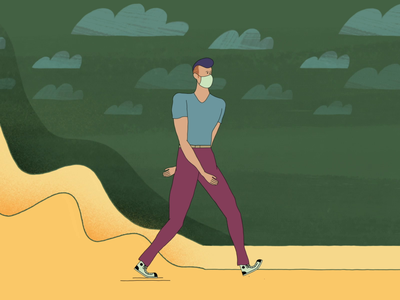 Mask Life Walk animation motion graphics character animation characterdesign aftereffects styleframe duik walkcycle illustration art mograph illustration motiongraphics motion