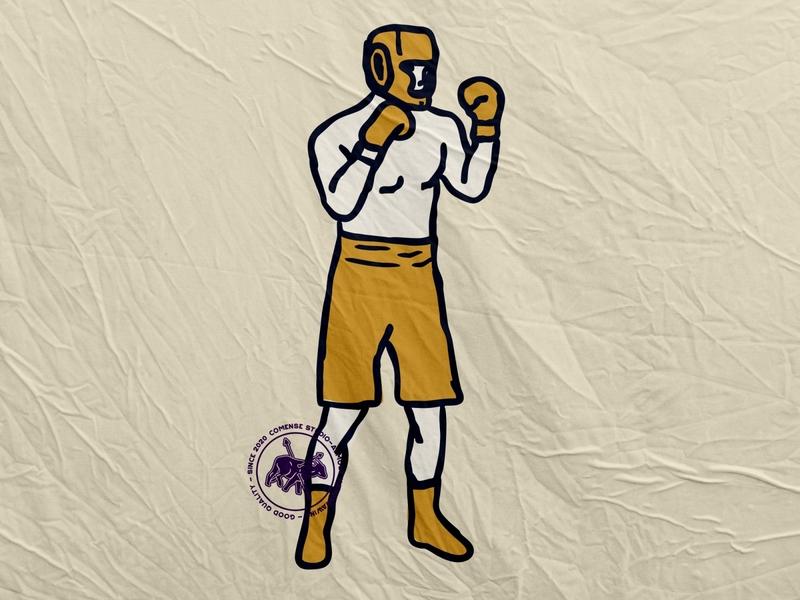 Boxing Man logo retro design retro logo logo template illustration design badge logo badge design