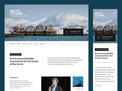 Arctic Futures Symposium - Home ui rwd design web webdesign