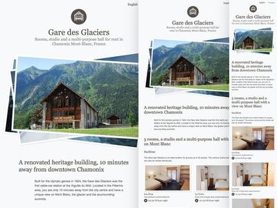 Gare des glaciers onepage rwd webdesign web responsive