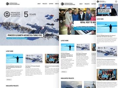 International Polar Foundation responsive rwd webdesign mobile first