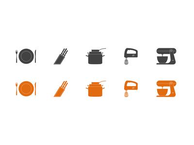 Kitchen Icons icons webdesign web design svg