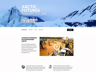 Arctic Futures Symposium webdesign web design