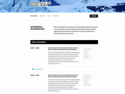 Arctic Futures Symposium: programme web design webdesign responsive