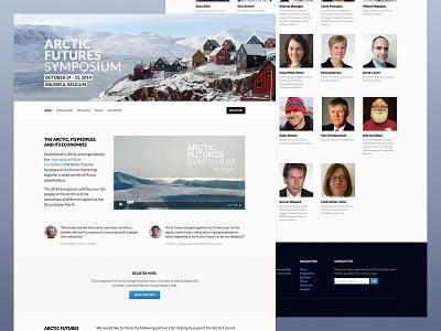 Arctic Futures Final Design web design webdesign responsive arctic