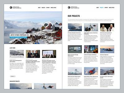 Polar Foundation: tweaked typography web design webdesign responsive