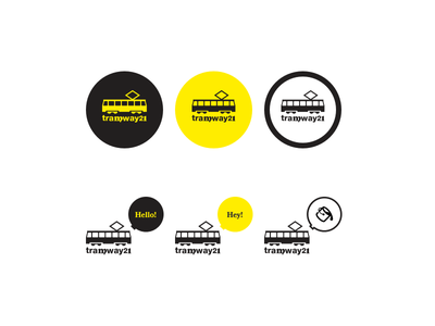 Tramway21 Logo Variations logo webdesign design web