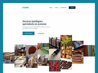 Nisaba Home images grid webdesign design web
