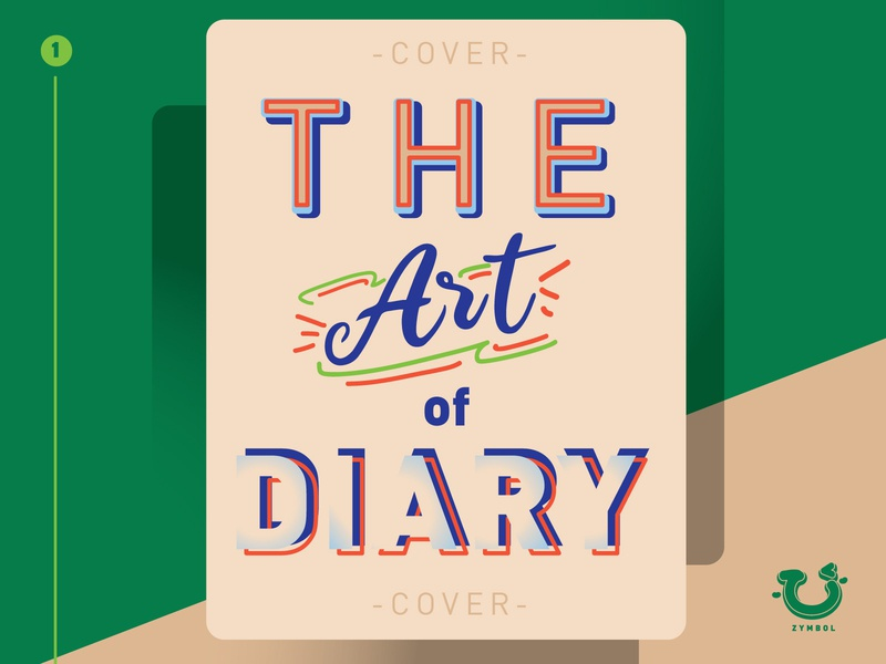 the art of diary template design vintage colour morden minimalism fun playful design colour palette colourful card design layout design typography vector ux design ui icon artwork art