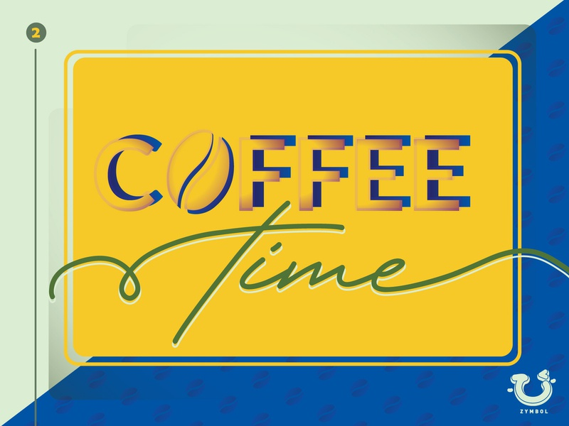 Coffee Time simple coffee template typography ux template design art ui morden layout design colour palette card design colourful artwork