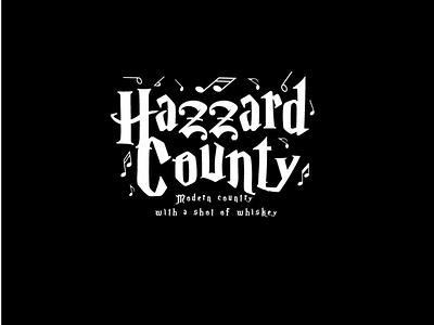 Hazzard County typography illustration vector logo design branding