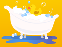 WeeSchool Illustration - Bathtime