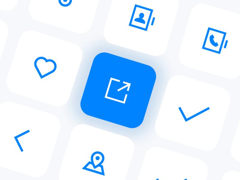 CHAO WAN icon design linear icons design ui icons icon set