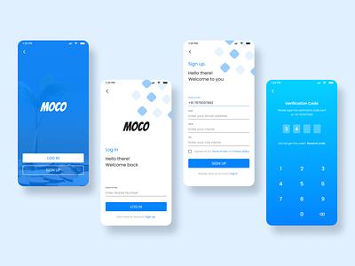 MOCO uidesign branding app minimal design uiux figma mobile ui payment app