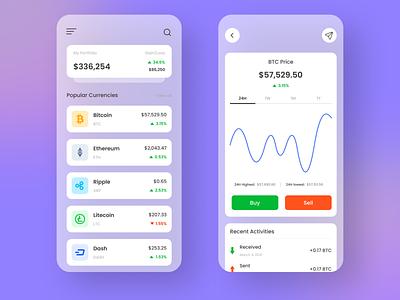Crypto Trading App mobile ui design ux ui figma mobile app uiux uidesign minimal design