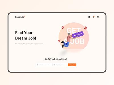 CareersGo job portal job search app ux mobile figma ui design uiux uidesign minimal design