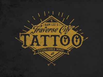 tattoo shop logolance hill - dribbble