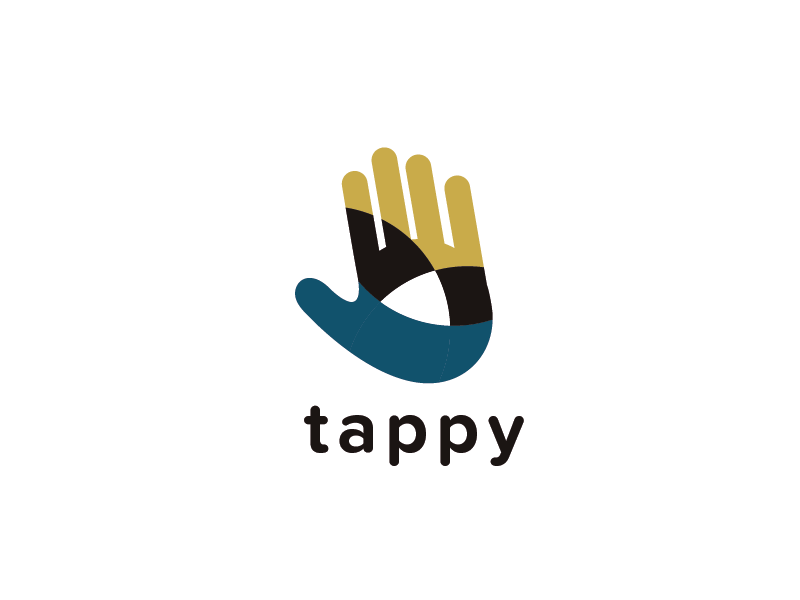 Tappy alternative  hand finger touchscreen touch connect tap logo