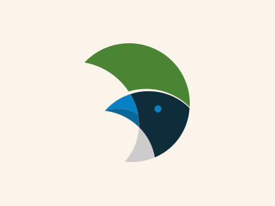 Instituto Gralha Azul circles nature logotype logo bird intitute