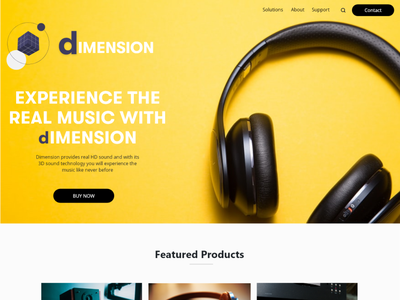 Headphones company typography ux branding ui illustration design