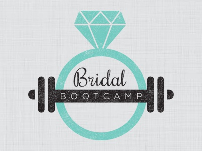Twin Cities Bridal Bootcamp logo logo design bridal bootcamp fitness bride wedding