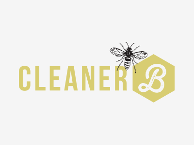 CleanerB Concept concept logo branding identity bee cleaning