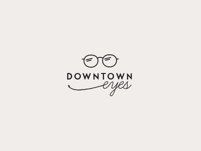 concept for local optical minimal simple eyewear glasses brand logo optical