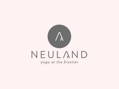 neuland logo minimal brand wellness holistic logo yoga
