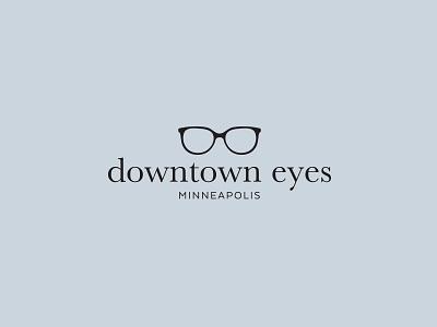 Final Downtown Eyes Logo eyeglasses sans serif serif simple eyewear optical