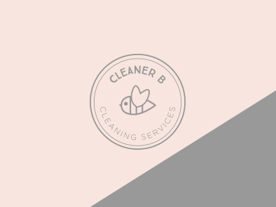 CleanerB Mark cleaner minimal simple identity logomark logo cleaning cleaning company