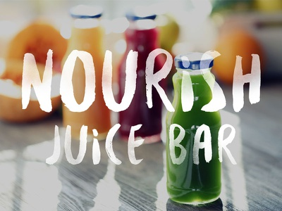 Nourish Juice Bar Logo Concept juice concept nourish identity branding logo juice shop juice bar