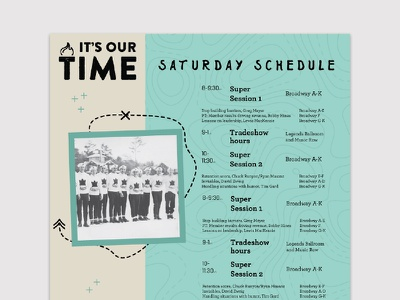2016 Conference Schedule layout conference schedule signage conference materials