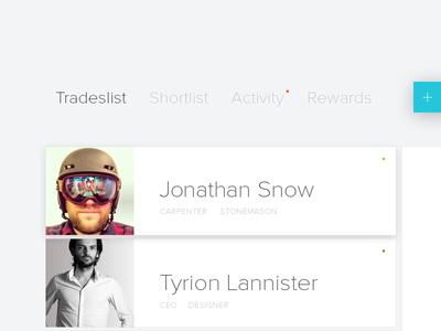 Dash WIP nova proxima list user clean dashboard