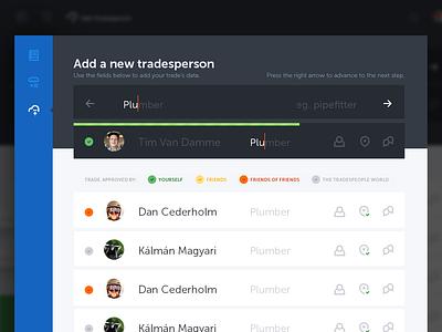 Add trade page magyari kalman blue sidebar fields input progress trade add clean flat