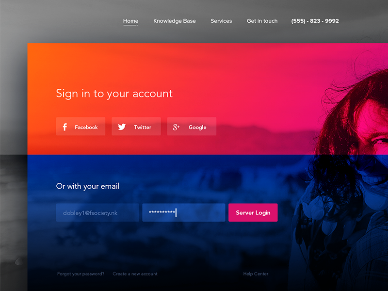 Sign In Free PSD login clean box input magyari kalman colorful in sign psd free
