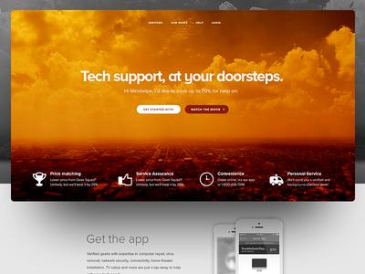 Tech Landing  magyari kalman golden page landing support tech