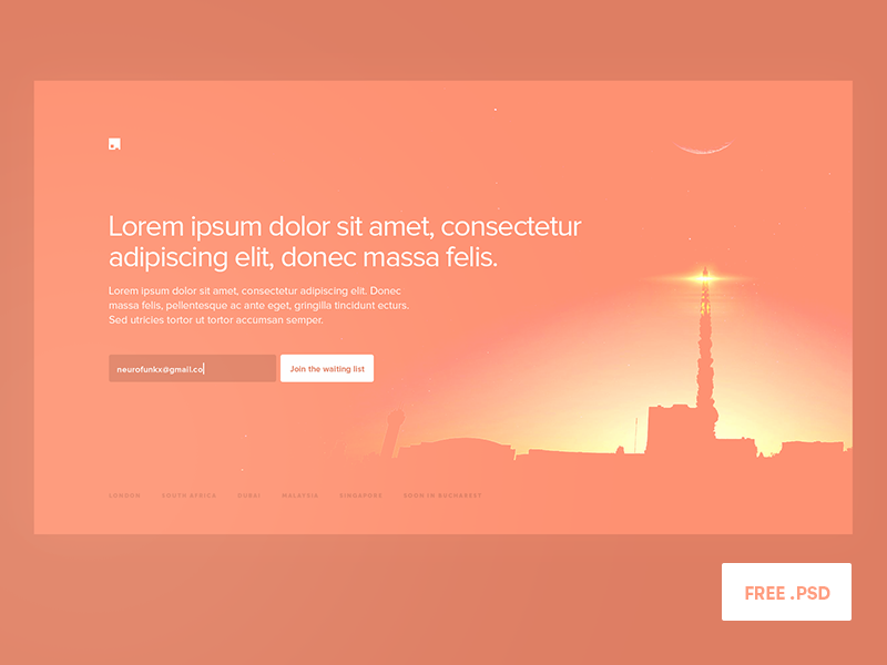 Pre-Launch Screen FREE PSD download landing hero magyari kalman psd free screen prelauch