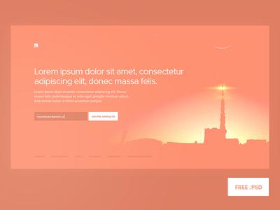 Pre-Launch Screen FREE PSD