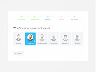 Steps WIP magyari kalman ux ui selector bar progress steps status employment