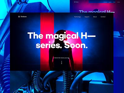 The H Series saturated dark colorful page landing magyari kalman extruder printing 3d soon coming