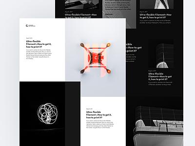Diabase Blog WIP dark minimal light clean magyari kalman layout blog desktop diabase