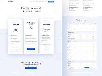 Pricing flat landing minimal magyari kalman clean light teams startup webdesign page plans pricing