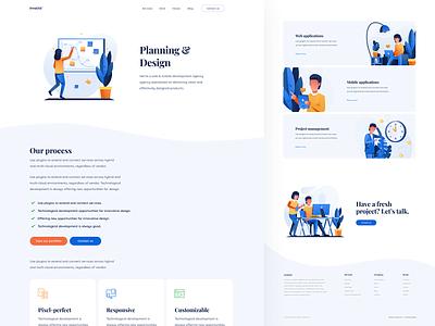 Services - Planning & Design magyari kalman light minimal illustrations clean webpage web design planning services page services