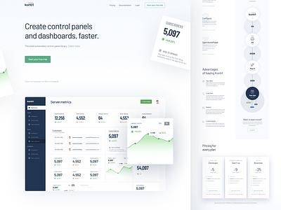 Kontrl Homepage page layout webdesign web design website design minimal light flat page clean landing magyari kalman