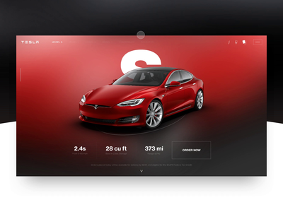 TESLA Concept Product View webdesign web ux ui typography motion minimal layout interface interaction clean animation