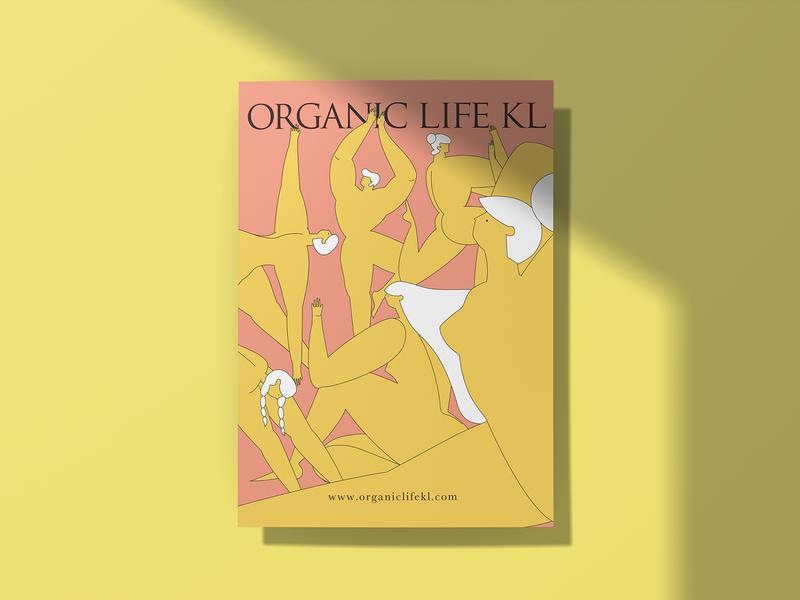 Organic Life KL 2019 Poster poster design poster minimal flat branding design illustration