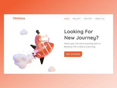 Tripedia illustration 3dillustration landingpage ux ui webdesign website