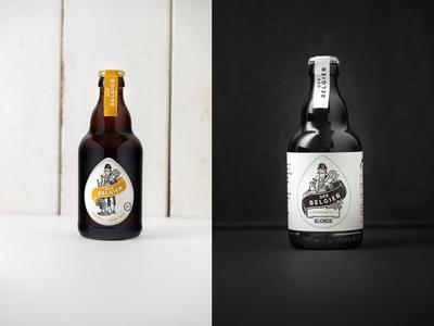 Der Belgier tgs packaging design label packaging label design beer label illustration design design beer packagingdesign labeldesign illustration thegraphicsociety graphic design branding